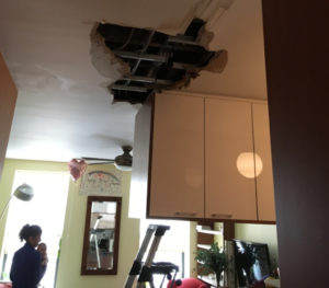 water damage ceiling
